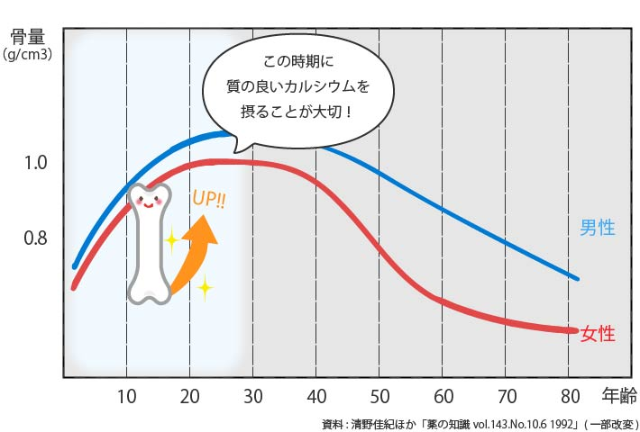 骨密度についてのグラフ
